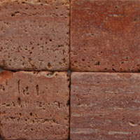 Red Tumbled Travertine